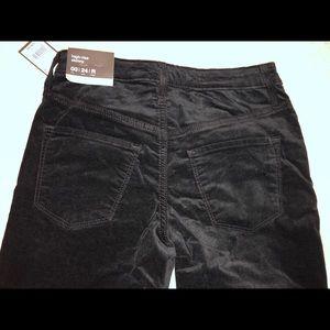 Target mossimo high rise skinny black velvet jeans